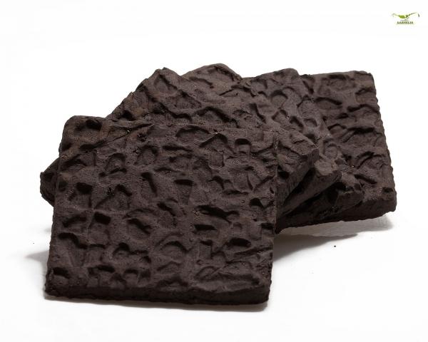 Terrakotta Bodenplatte zum bepflanzen / aufbinden - 5x5 cm