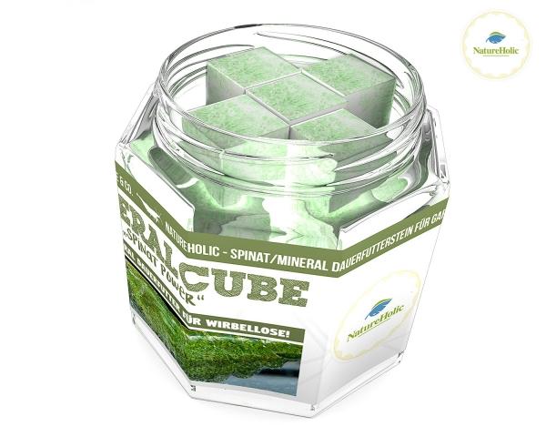 """NatureHolic - MineralCube """"Spinat Power"""" - 47ml - Mineralversorgung + Ferienfutter"""
