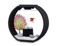 Deco O mini Designer Aquarium AA10L-OGD Komplettset - 10L - schwarz