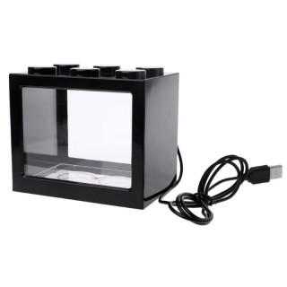 Mini Aquarium inkl. LED 0,9 L