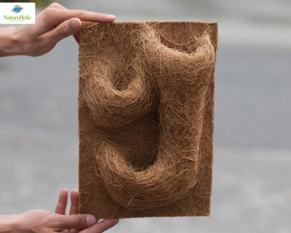 Natureholic Kokosfaser Terrarium Rückwand mit 3 Pflanzentaschen 20 x 30 cm