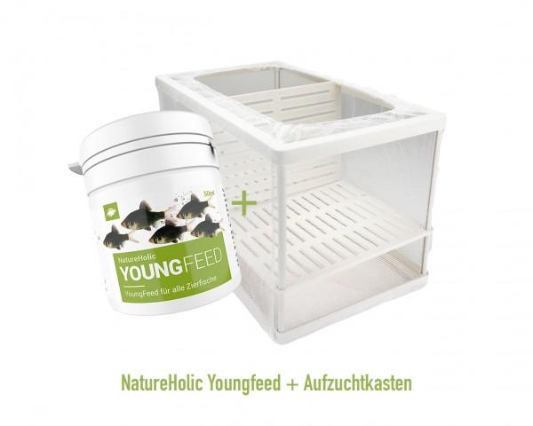 Aufzuchtset für Guppy´s & Co. - Aufzuchtkasten + Youngfeed 50ml