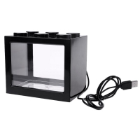 Mini Aquarium inkl. LED 0,9 L