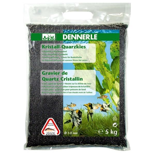 Dennerle Kristall-Quarzkies Schiefergrau - 5 kg