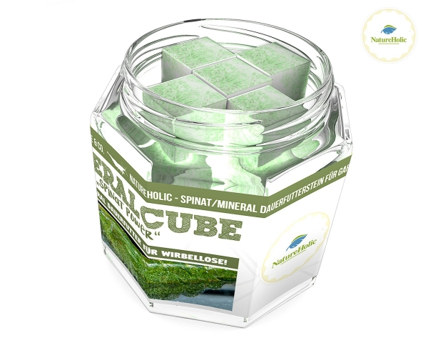 "NatureHolic - MineralCube ""Spinat Power"" - 47ml - Mineralversorgung + Ferienfutter"
