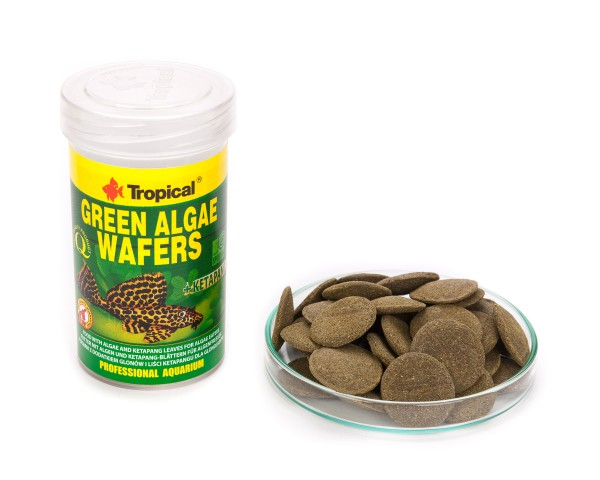 Tropical Green Algae Wafers, 100 ml