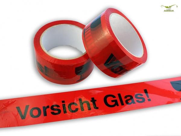 Klebeband / Paketband - Vorsichtig Glas - 50m