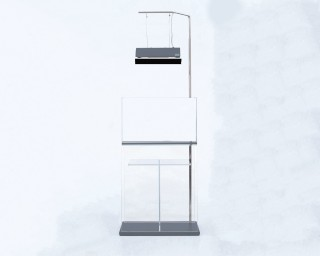 ADA - Cube Cabinet Clear 60 mit einem Solar RGB Stand und zwei Holzplatten
