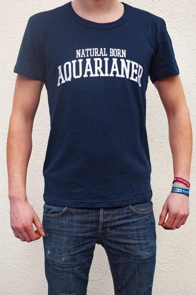 """""""Natural Born Aquarianer"""" T Shirt - Navy - Natureholic Clothing"""