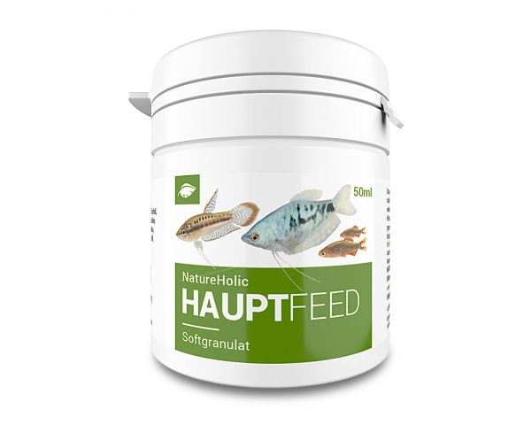 NatureHolic Hauptfeed - Zierfischhauptfutter - Softgranulat - 50ml