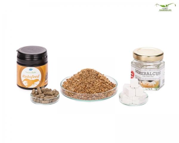 """NatureHolic - Krebse """"Sorglos"""" Paket - Krebsfeed / getrocknete Wasserflöhe / Mineralcube """"Pure"""""""