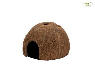 Kokosnussschale mit Seiteneingang