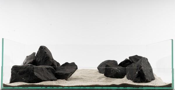 Schwarzer Felsen - Aquarium Stein / Fels